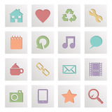 Square media icons Stock Image