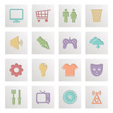 Square media icons Stock Photography