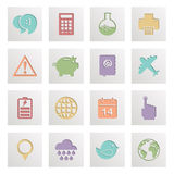 Square media icons Stock Photo