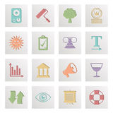 Square media icons Stock Images