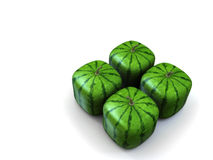 Square melon. As they´re been sold in asia Royalty Free Stock Photos