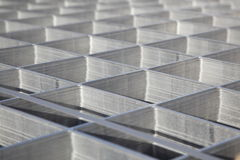 Square metal pattern Stock Image