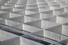 Square metal pattern Stock Image