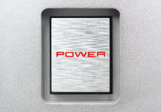 Square metal power button Royalty Free Stock Photography
