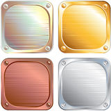 Square Metallic Panels Royalty Free Stock Images