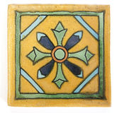 Square Mexican tile shape stock images