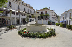 Square in Mijas Royalty Free Stock Photography