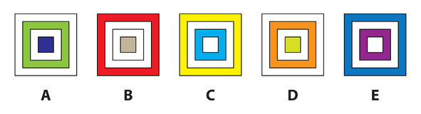 Square Mind Game. Illustration is in eps8  mode! Task: Which of the four pictures does not fit in? Answer: B Royalty Free Stock Photography