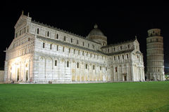 Square of Miracles in Pisa (Italy) at night Royalty Free Stock Photos