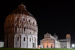 Square of Miracles in Pisa by night Stock Photos