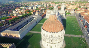 Square of Miracles in summer, Pisa. Stunning aerial view of Tusc Stock Photos