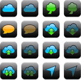Square modern app icons. Stock Photography