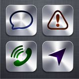 Square modern app icons. Royalty Free Stock Image