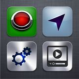 Square modern app icons. Stock Images