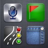 Square modern app icons. Royalty Free Stock Photo