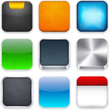 Square Modern App Template Icons. Stock Photography