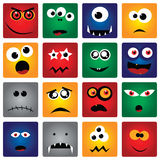 Square Monsters Royalty Free Stock Images