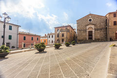 Square in Montalcino Stock Image