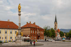 Square with monumental column Royalty Free Stock Photo