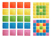 Square mosaic buttons Royalty Free Stock Image