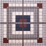 Square Mosaic Design. Mosaic Pattern. Mosaic Floor stock photo