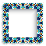 Square mosaic frame Royalty Free Stock Photography
