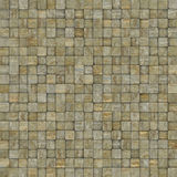 Square mosaic tiled metal rusty grunge pattern Royalty Free Stock Images