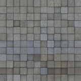 Square mosaic tiled multiple gray grunge pattern Stock Images