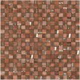 Square mosaic tiled multiple red brown grunge pattern Stock Photography