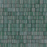 Square mosaic tiled yellow blue green grunge pattern Stock Photo