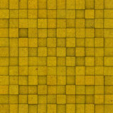 Square mosaic tiled yellow ocre grunge pattern Stock Photography