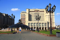 Square in Moscow. Royalty Free Stock Image