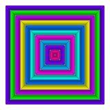 Square multicolored button Stock Photos