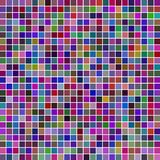 Square multicolored mosaic background Stock Photography