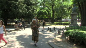 Square named after Russian General Gurko in the center of Varna, Bulgaria stock video footage