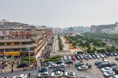Square near the Bell Tower in Xian Stock Images