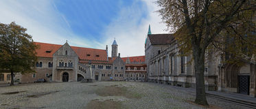 Square near Braunschweig cathedral Stock Photos