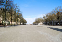 Square near the castle in Nantes. In France royalty free stock image