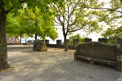 Square near the Collegial Church. Neuchatel, Switzerland Stock Photo