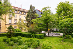 Square near the hotel Burgas Burgas, Bulgaria Royalty Free Stock Photo