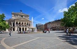 Square near Old Opera (Alte oper) in Frankfurt Royalty Free Stock Photo