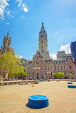 Square near Philadelphia City Hall Stock Photo