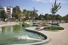 Square near the railway station in Caplina. Bosnia and Herzegovina Royalty Free Stock Photography