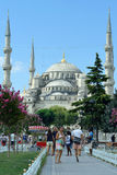 Square near Sultan Ahmed Mosque Royalty Free Stock Photos