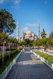 Square near Sultan Ahmet Mosque or Blue Mosque. Istanbul, Turkey Royalty Free Stock Photography