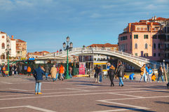 Square near the train staition in Venice, Italy Stock Images