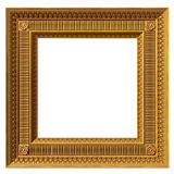 Square neoclassical frame. Illustration of a gilded square neoclassical picture frame Royalty Free Stock Photos