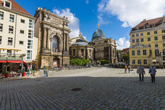 Square Neumarkt in the old town. Royalty Free Stock Image