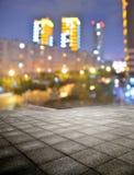 Square night city stock photography