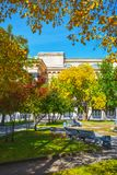 Square, Novosibirsk state academic Opera and ballet theatre Royalty Free Stock Image